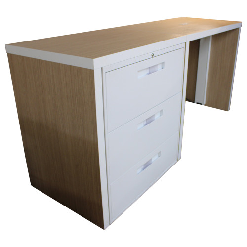Bar Height Workstation w/ File Cabinet
