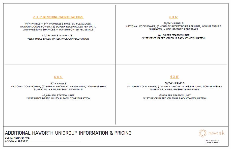 Haworth Unigroup Typicals