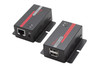 Hall Research USB 2.0 over UTP Extender with 2-Port Hub (U22-160)