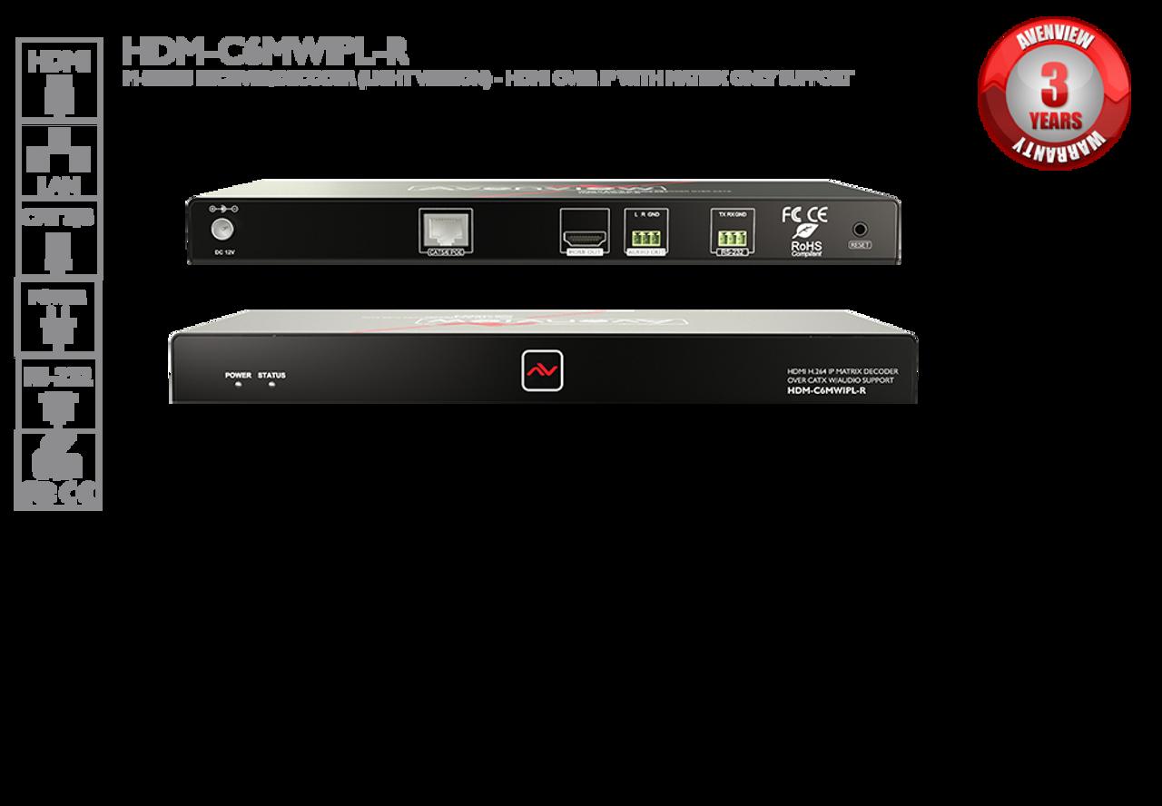 Avenview M-Series Receiver/Decoder - HDMI over IP (HDM-C6MWIPL-R)