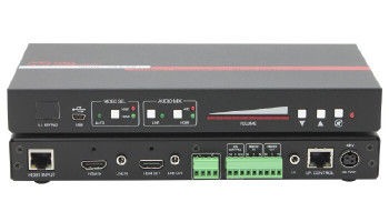 Hall Research HDBaseT Receiver with Integrated Switcher, Audio Amp (VSA-X21)