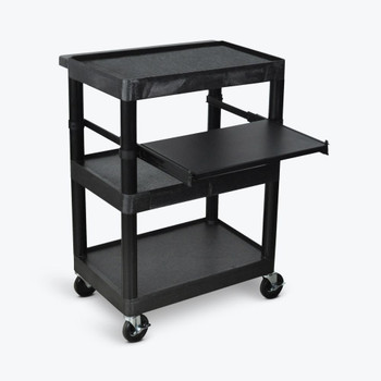 The Luxor LT34 cart  is ideal for document camera, projector and CPU or laptop's.