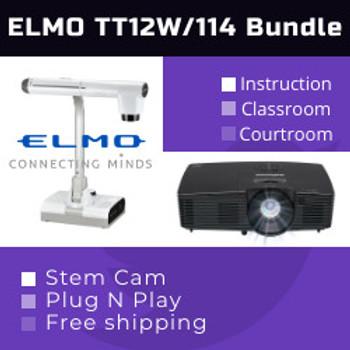 Elmo TT-12W/114xv classroom combo bundle