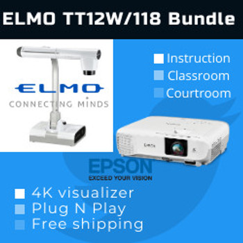 Elmo TT-12W/118 Classroom Deluxe combo  (TT-12W/118)