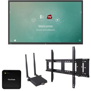"ViewSonic IFP7550-C1 75"" 4K Interactive Display (Bundle)"