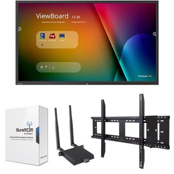 "ViewSonic IFP6550-M1 65"" 4K Interactive Flat Panel MDM Bundle 1"