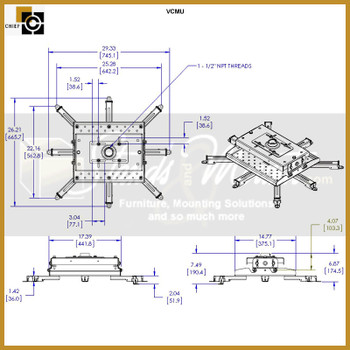 Chief VCMU Heavy Duty Universal Mount (VCMU)