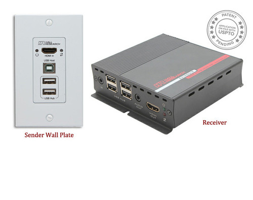 Hall Research HDMI and USB Extension on CAT6 with Audio (EX-HDU)