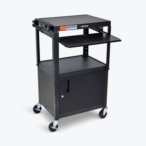 Luxor Adjustable Steel AV cart (AVJ42KBC)