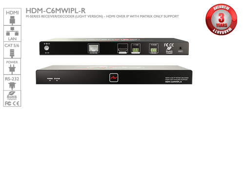 Avenview M-Series Receiver/Decoder - HDMI over IP (HDM-C6MWIPL-R)