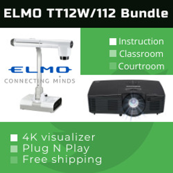 Elmo TT-12W/112XV teachers special bundle (TT-12W/IN112XV)