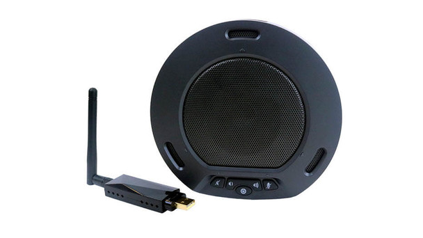 HuddleCamHD®  HP-AIR-BK Wireless USB 2.0 Speakerphone