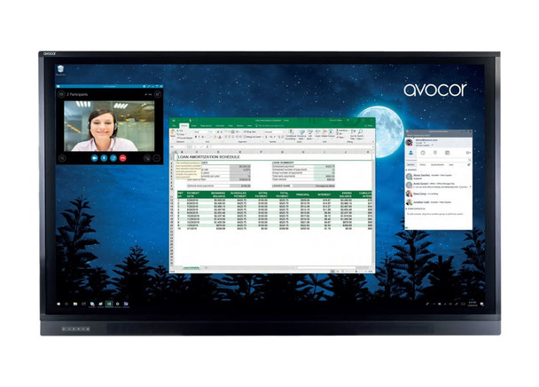 "Avocor AVF-6550 65"" LCD Touchscreen Monitor"