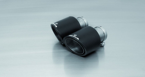 Remus Non-Resonated Cat back Exhaust Valved - 4 Carbon tail pipes angled/angled/Titanium internals - Giulia Quadrifoglio