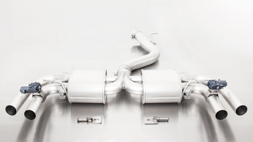 Remus Non-Resonated Cat back Exhaust  - 4 tail pipes angled/rolled edge/chromed - RS3 8V Sportback