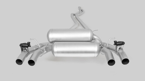 Remus Non-Resonated Cat back Exhaust Valved - 4 tail pipes 102 mm angled/straight cut/chromed - F87 M2 non Competition