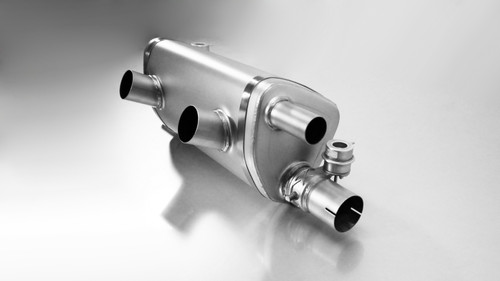 Remus Rear Silencer Valved uses OE Tailpipes - 911 991.2 Carrera Turbo