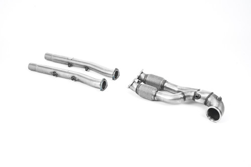 Milltek Large-bore Downpipe and De-cat - V2 Downpipe with Decat & OPF/GPF Bypass - RS3 8V Sportback Pre Facelift