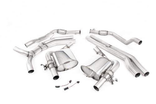 Milltek Cat-back - Non-Resonated (Louder) with Burnt Titanium Oval Trims - RS5 - B9 2.9 V6 Turbo Sportback (OPF/GPF Models) - 2019-2020 - SSXAU832