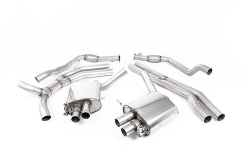 Milltek Cat-back - Part Resonated - Road+ - with Titanium Oval Trims - RS5 - B9 2.9 V6 Turbo Sportback (OPF/GPF Models) - 2019-2020 - SSXAU839