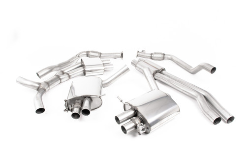 Milltek Cat-back - Resonated - with Burnt Titanium Oval Trims - RS5 - B9 2.9 V6 Turbo Sportback (OPF/GPF Models) - 2019-2020 - SSXAU836