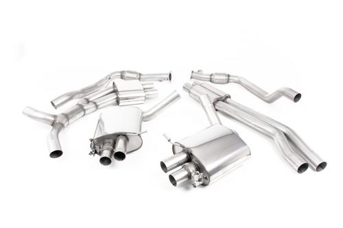 Milltek Cat-back - Resonated - with Titanium Oval Trims - RS5 - B9 2.9 V6 Turbo Sportback (OPF/GPF Models) - 2019-2020 - SSXAU835