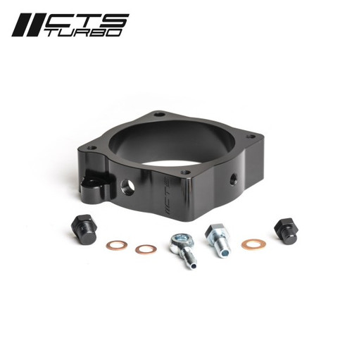 CTS Turbo Throttle Body Spacer With Boost Tap And Meth Injection Port RS3 / TTRS (8V.2/8S) 2018+