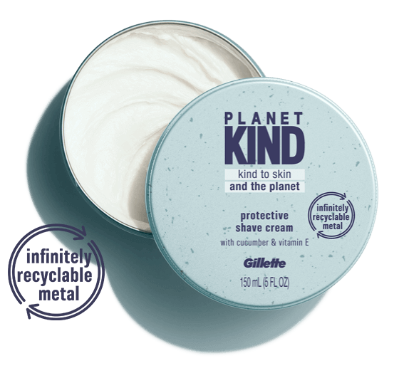 Planet Kind Protective Shave Cream infused with Vitamin E and cucumber