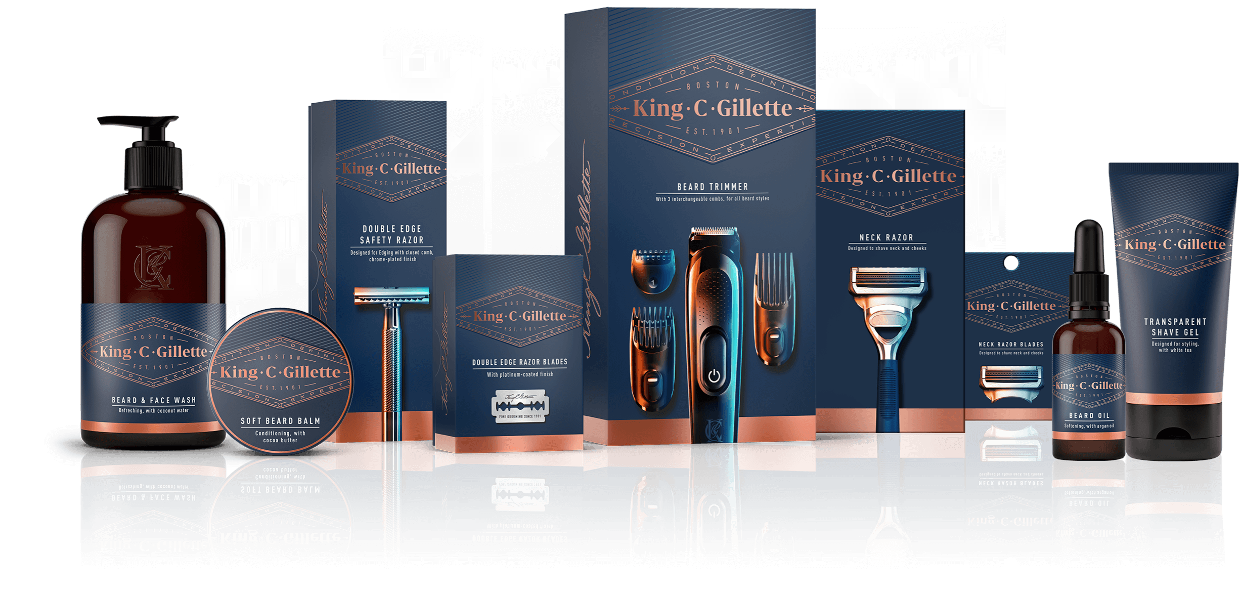 King C. Gillette line of grooming products