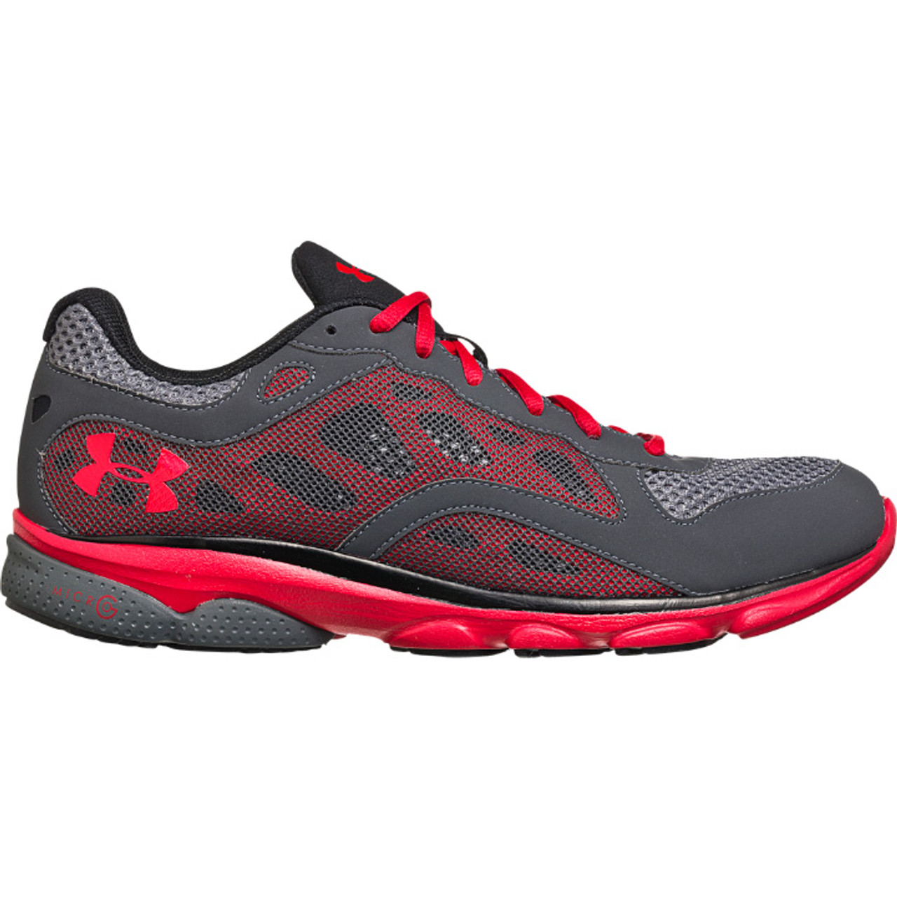Conciso Mejora Nadie  Mens Under Armour Micro G Ignite Running Shoe Charcoal/Red/Red - Sieverts  Sporting Goods