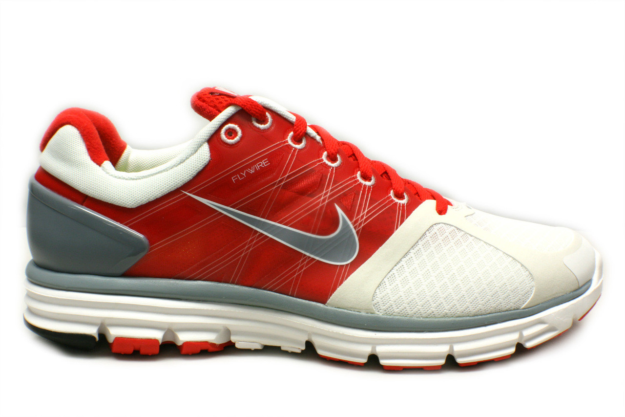 finest selection 47430 4921c Mens Nike Lunarglide +2 Running Shoe White Red Gray - Sieverts Sporting  Goods