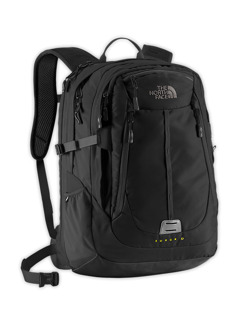 The North Face Surge II Charged Backpack TNF Graphite Grey Sulphur Spring  Green - Sieverts Sporting Goods c30b0f7e8