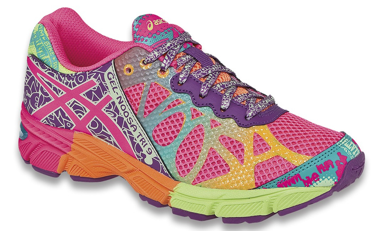 28d733df97c Girls Asics Gel Noosa Tri 9 Running Shoe Hot Pink Neon Purple Flash Yellow  - Sieverts Sporting Goods