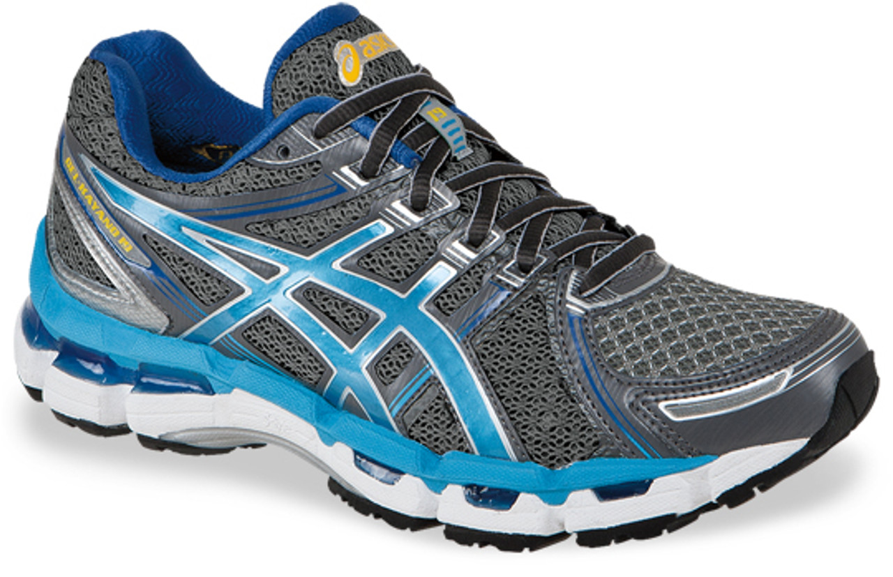 Women's Asics Gel Kayano 19 Running Shoe Lightning Turquoise Iris