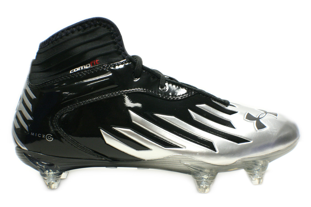 6a5cb321f16d Under Armour Men's Nitro Diablo Compfit Football Cleat Black/Silver -  Sieverts Sporting Goods