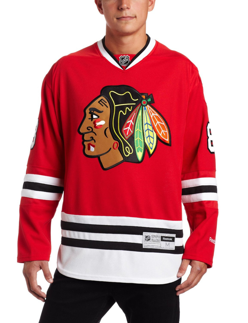 7017e00cccd Men's Adidas NHL Reebok Chicago Blackhawks Patrick Kane Premier Home Jersey  - Sieverts Sporting Goods