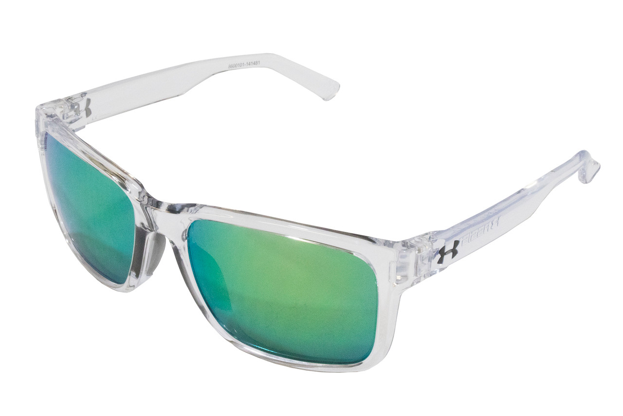 New Under Armour Assist Shiny White Frosted Clear Gray Sunglasses