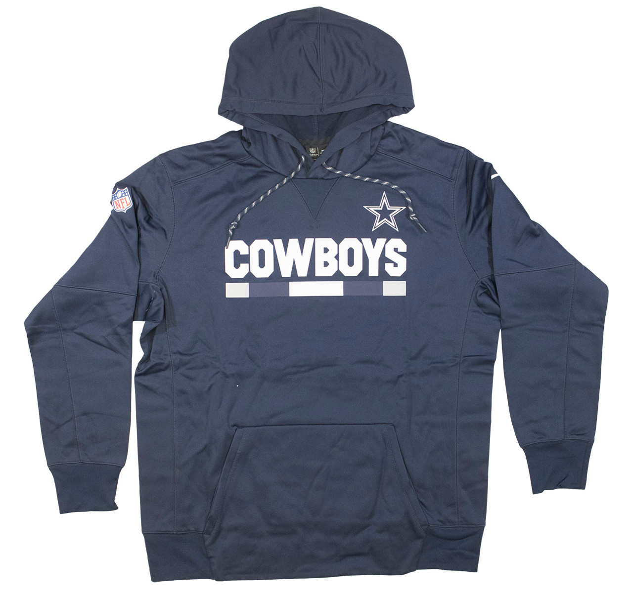 official photos b811b a1425 Men's Dallas Cowboys Men's Cowboys Navy Sideline ThermaFit Performance PO  Hoodie