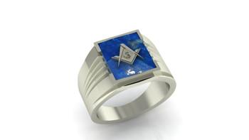 Square Mason-  Lapis Lazuli