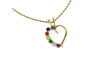 Family Heart Charm- 3-7 (No chain)