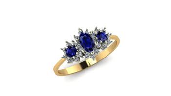 Lyra- Blue Sapphire