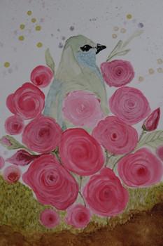 Bird in Roses
