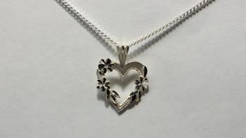 257-52 Bright Cut Heart /Chain