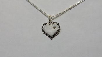 259-37 Engravable Bright Cut Heart/ Chain