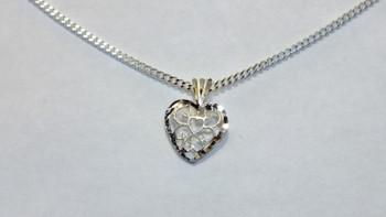 257-53 Bright Cut Heart/Chain