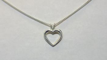 257-49 Puffed Heart/Chain