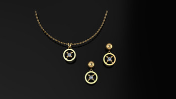 Glittering brilliant diamonds sparkle from the fashion forward simplicity of design.  She deserves the best...
