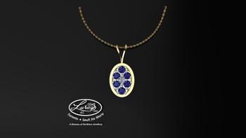 Glimmer- Blue Sapphire- Pendant