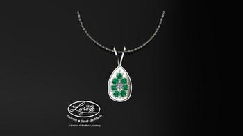 Blossom- Emerald- Pendant