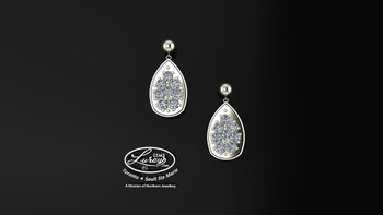 These simple, fashionably framed, two part designs, accentuate the crafted reflective center setting supporting .40 CT per side for a .80ct total weight of diamond.  Diamonds and gemstones are selected by experts for their brilliance, rich color and eye catching appeal.  Suspended on 3mm drop down ball studs with secure butterfly clasps, these stunning pieces will catch the light with every movement.  We believe as you do …  Be it; birthday, anniversary or just because… she deserves the best.  Your choice of 10 or 14K gold, white, yellow or two tone.